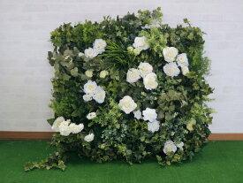 壁面緑化パネル グリーンQ 1m×1m(インテリア 大型 目隠し イミテーション 造花 フェイク 装飾)