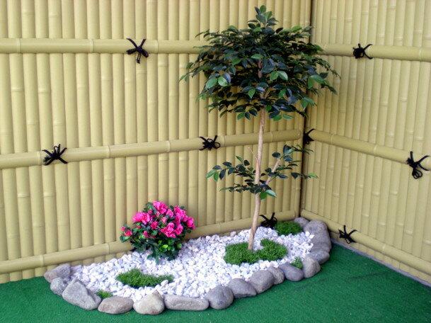 さざんか 100cm (造花 人工観葉植物 サザンカ 和風 ガーデニング 造園 庭園 坪庭 インテリア 店舗装飾 フェイクグリーン DIY)