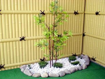 黒竹100cm(造花/人工観葉植物/バンブー/和風/ガーデニング/造園/庭園/坪庭/エクステリア)