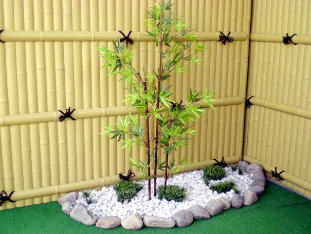 黒竹 100cm (造花 人工観葉植物 バンブー 和風 ガーデニング 造園 庭園 坪庭 エクステリア)