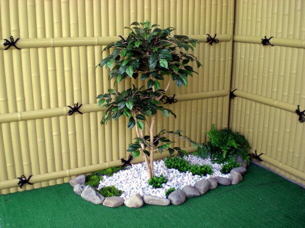 ツバキ 100cm(造花・人工観葉植物・椿・和風・ガーデニング・造園・庭園・坪庭・インテリア)