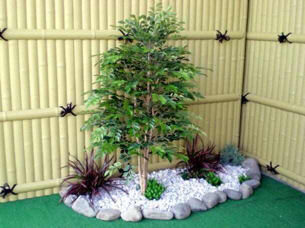 シマトネリコ 100cm (造花 人工観葉植物 和風 ガーデニング 造園 庭園 坪庭 インテリア)