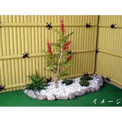 南天 高さ100cm (造花 小型 人工観葉植物 ナンテン 実 和風 ガーデニング 造園 庭園 坪庭 インテリア お正月 お祝い ボタニカル)