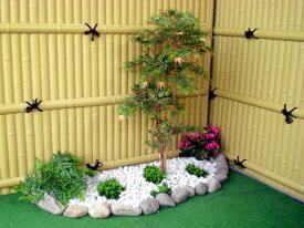 モミジ 100cm (盆栽風 造花 人工観葉植物 緑 和風 ガーデニング 造園 庭園 坪庭 インテリア もみじ)