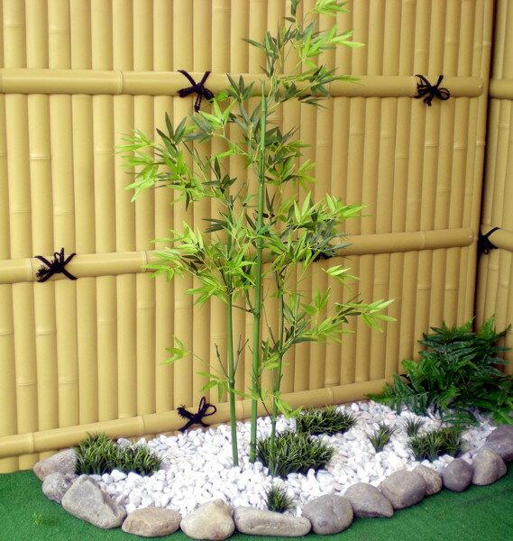 青竹 高さ100cm3本立て (造花 人工観葉植物 ガーデニング 造園 庭園 坪庭 インテリア 洋風 和風)