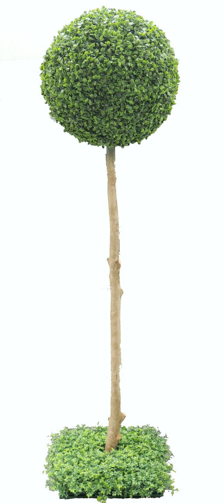 ボックスウッドトピアリー 高さ120cm (造花 人工観葉植物 樹木 円形 ガーデニング 球体 丸い オブジェ インテリア フェイクグリーン)