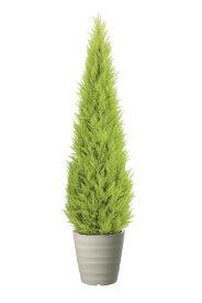 ゴールドクレストツリー (ライトグリーン) 180cm (造花 インテリア 観葉植物 大型 人工 フェイクグリーン お洒落)(屋外使用可能)