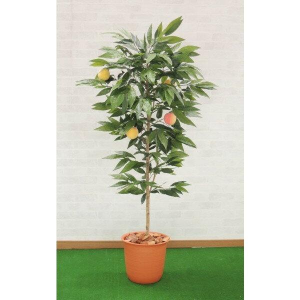 桃の木 実付 180cm (人工観葉植物 大型 インテリア 店舗内装 造花 人工樹木 フェイクグリーン 1.8m)