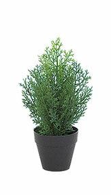 クレストツリー (グリーン) 30cm (造花 インテリア 観葉植物 人工 フェイクグリーン 屋外用)
