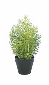 クレストツリー (ライトグリーン) 30cm (造花 インテリア 観葉植物 人工 フェイクグリーン 屋外用)