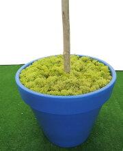 フラワートピアリー120cmブルー(造花人工観葉植物オブジェインテリア円形)