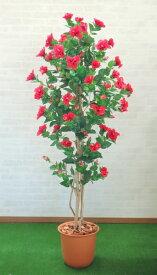 ハイビスカスレッド 180cm (人工観葉植物 造花 人工樹木 フェイクグリーン 1.8m 室内 おしゃれ 室内 インテリア 装飾 ディスプレイ プラント)