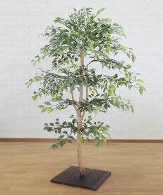 小さい葉っぱの木 100cm (ミニフィカス ベンジャミン 造花 盆栽風 人工観葉植物 和風 インテリア 造園 坪庭 フェイクグリーン 屋外使用可能 1m)