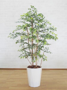 小さい葉っぱの木 120cm (鉢植え) (造花 ミニフィカス ベンジャミン インテリア おしゃれ 室内 人工 観葉植物 装飾 ディスプレイ 作り物 フェイク グリーン プランツ 屋外使用可能)