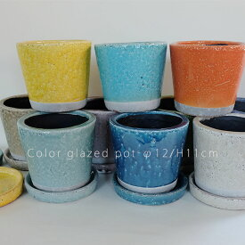 カラーグレーズポット Color Glazed Pot 3号【植木鉢 /おしゃれ/DULTON /陶器鉢/ダルトン】