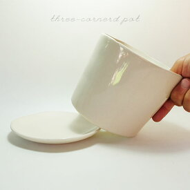 thre-cornered pot【植木鉢/おしゃれ/白鉢/インテリア/多肉植物/セラミック/stem】
