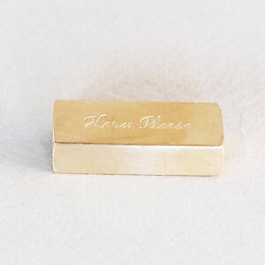 BRASS カードスタンド レクタンブル【プライスガード/DIY/おしゃれ/雑貨/真鍮/メール便配送OK】