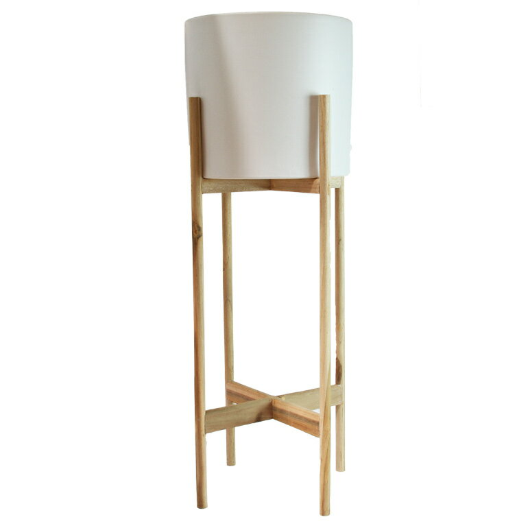 WOOD POT STAND tall ポットスタンド【フラワースタンド/鉢台/stem/木製/鉢付き/植木鉢スタンド】