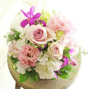 アレンジメントフラワーSサイズ Girlishness(ピンク系)※デザイナーが手がけるお洒落な一品出産祝い 誕生祝い 妊娠 出産 誕生 出生 バースディ 贈り物 フラワーギフト プレゼント お祝い
