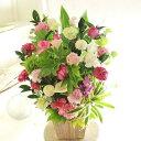 アレンジメントフラワーLサイズ Girlishness(ピンク系)※デザイナーが手がけるお洒落な一品。誕生日、結婚記念日な…