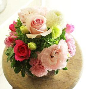 アレンジメントフラワーSSサイズ Girlishness(ピンク系)※デザイナーが手がけるお洒落な一品誕生日祝い 誕生祝い 誕生日 バースディ 出生 贈り物 フラワーギフト プレゼント お祝い お花