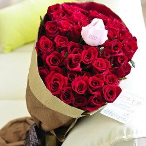 【メッセージ入り】花束・ブーケ 赤バラ50本 皇室献上実績のバラ農園から宅配直送誕生日 結婚祝い 開店祝い 就任祝い 長寿祝い 新築祝い 引越し祝い 退職祝い 贈り物 フラワーギフト プ