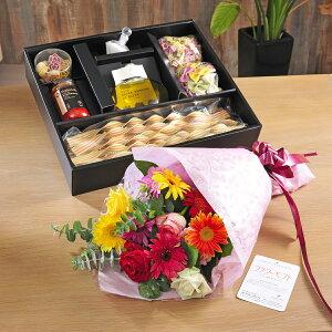 パスタ(カプルソ)と選べるお花のギフトセット結婚祝い 婚約祝い 入籍祝い ブライダル ウェディング 結婚式 披露宴 贈り物 フラワーギフト プチギフト プレゼント お祝い お花 送料無料 メッ