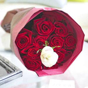 【メッセージ入り】花束・ブーケ 赤バラ12本 皇室献上実績のバラ農園から宅配直送誕生日 結婚祝い 開店祝い 就任祝い 長寿祝い 新築祝い 引越し祝い 退職祝い 贈り物 フラワーギフト プ