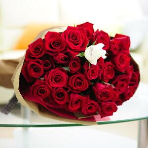 【メッセージ入り】花束・ブーケ 赤バラ30本 皇室献上実績のバラ農園から宅配直送誕生日 結婚祝い 開店祝い 就任祝い 長寿祝い 新築祝い 引越し祝い 退職祝い 贈り物 フラワーギフト プ