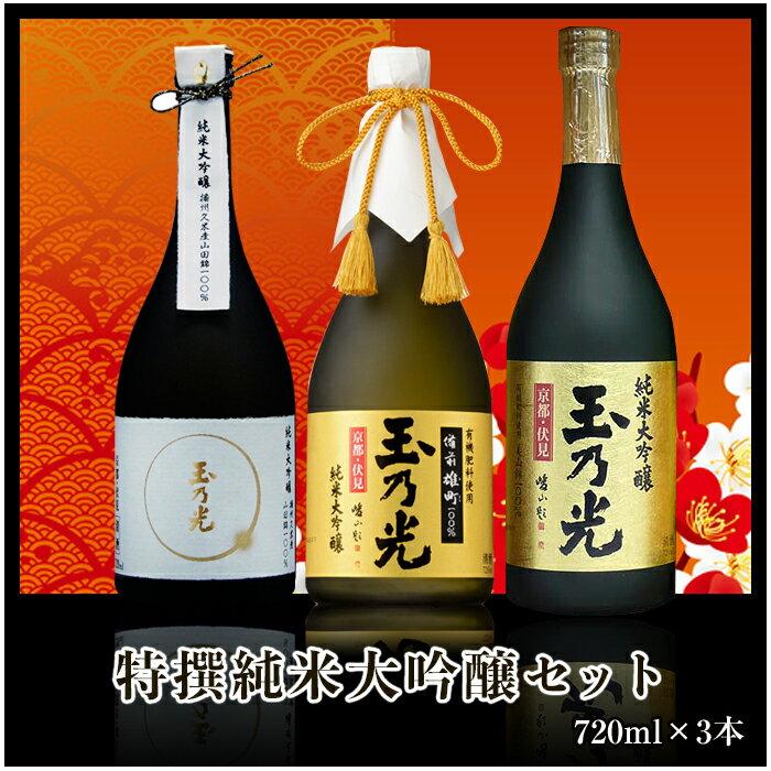 日本酒 特撰 純米大吟醸セット TR-3B 720ml×3本 お歳暮誕生日ギフト贈り物パーティー お鍋に合う