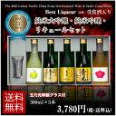 日本酒 純米大吟醸+純米吟醸+リキュール 300ml×5本セット TNL-5 誕生日ギフト贈り物パーティーお歳暮 お鍋に合う正月帰省京都土産