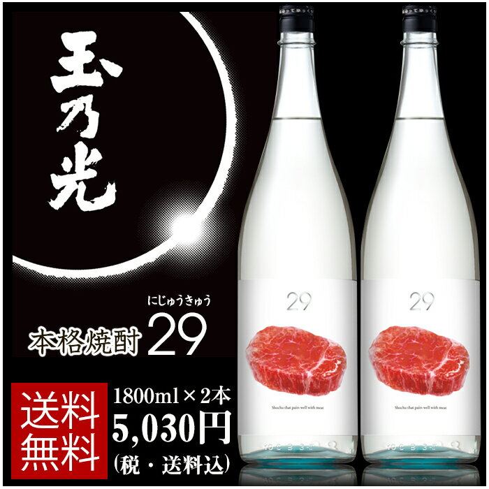 本格焼酎 29(にじゅうきゅう)1800ml×2本 焼肉ステーキ肉料理に合うAI味覚センサー