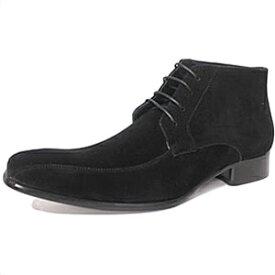ビジネスシューズ 革靴 メンズ 靴 レザーシューズ チャッカブーツ レースアップ スエード スワールモカ メンズ 紳士用 [ビジネス フォーマル ブランド サイズ サラバンド ブラック 黒 ]