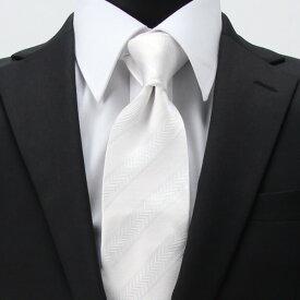 041b94f8458c1  メール便送料無料 白ネクタイ ホワイト 紳士用 光沢 ポリエステル素材 レギュラー
