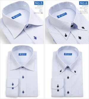 最強のノーアイロン!ストレッチ◎長袖ワイシャツ紳士用メンズワイシャツ形態安定ノーアイロンストレッチ長袖シャツカッターシャツYシャツ形状記憶ボタンダウンレギュラーカラーワイドカラー白ホワイトブルー青無地ストライプビジネス仕事デザイン