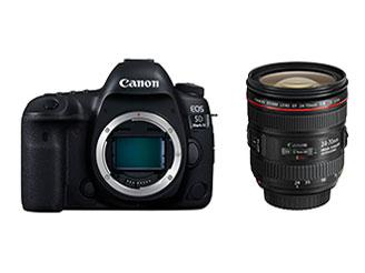【送料無料】EOS 5D Mark IV(WG)【EF24-70 F4L IS USM レンズキット】/デジタル一眼レフカメラ【新品】【量販店印付き品】