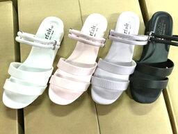 被不感到累的經典的辦公室護士鞋辦公室涼鞋疲勞耗費2部皮帶護士涼鞋2WAY黑白粉紅紫女士21.5cm~25.5cm