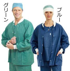 メンリッケヘルスケア 送料無料 バリアー ナースウェア ウォームアップジャケット 48枚 メンズ レディス 品番18001 ナースグッズ