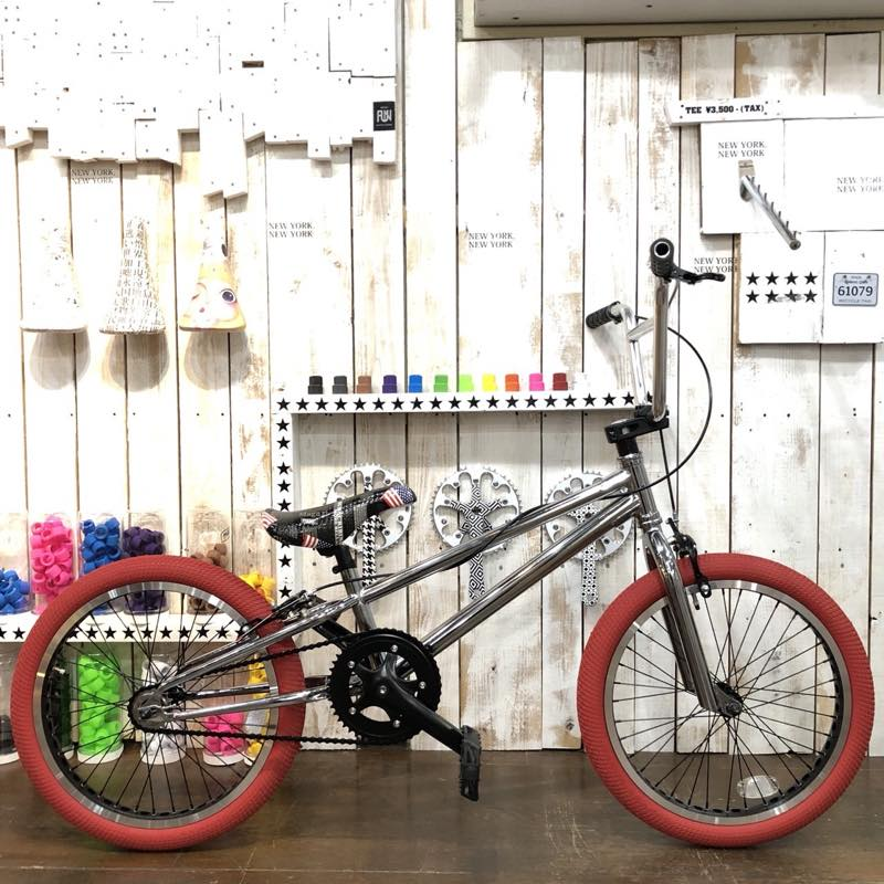 FUN BMX 20インチ ストリート 完成車 限定 クローム レッド タイヤ 10周年 アニバーサリー 限定モデル!!【原宿】【アメ村】【大須】