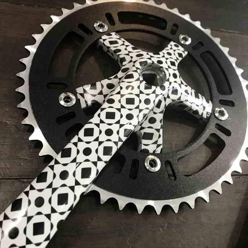 グラフィッククランクC【FUN】48T[ピスト][BMX][ピストパーツ][クランク][ギア][FUN][48丁][グラフィック][自転車][ピストクランク][PIST][ピストバイク][23C][700C]
