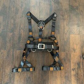 510-O フルハーネス ブラック オレンジステッチ安全帯 ワンタッチ ワンタッチバックル 肩パッド 胴ベルト有 ランヤード別売 厚生労働省「安全帯の規格」適合