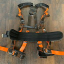 【新規格】510-G フルハーネス ブラック/オレンジ安全帯 ワンタッチ ワンタッチバックル 肩パッド 胴ベルト有 ランヤ…