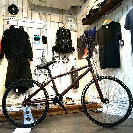 ノーパンク自転車 FUN EASY BMX 24インチ 完成車ブラウン クルーザー おススメ BMX24インチ ノーパンクタイヤ ライダースカフェ