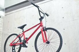 ノーパンク自転車 FUN EASY BMX 24インチ 完成車マットレッド クルーザー おススメ BMX24インチ ノーパンクタイヤ ライダースカフェ