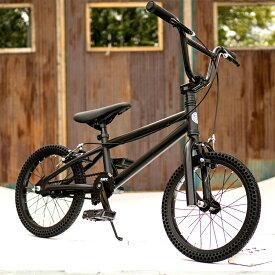 パンクしない自転車 FUN EASY KIDS BMX 16インチ 完成車マットブラック キッズ 子供用 おススメ BMX16インチ ノーパンクタイヤ ライダーズカフェ適正身長120cm以上