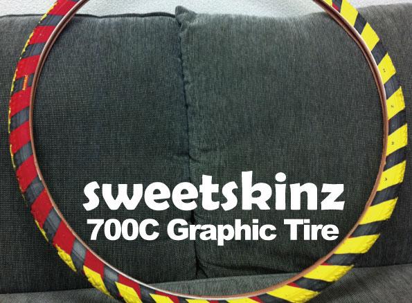 700×35Cグラフィックタイヤ『SWEETSKINZ』【HAZAREA】 [ピスト][パーツ][ピストパーツ][タイヤ][スイートスキンズ][ピストバイク][PIST][ライダーズカフェ][700C][35C]