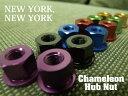 『NEW YORK,NEW YORK』【カメレオンハブナット】2個1セット[ピスト][パーツ][ピストパーツ][ハブナット][ホイール][アルミナット][ハブ…