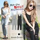 【ラスト1着】【オールインワン レディース 夏 ギャル ファッション ノースリーブ ロング ブラック グレー ブラックク…