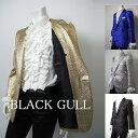 【BLACK GULL】メンズ ステージ衣装 コスチュームロック バンド衣装 男性【品番/デザイン】JA-7700スペースラメ1Bシン…