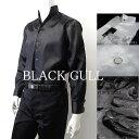 【BLACK GULL】メンズ ステージ衣装 コスチュームロック バンド衣装 男性【品番/デザイン】Y-0215サテンシャツ スタン…